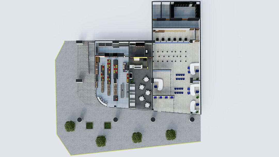 planta baja-areacomercial-plaza arena arena fundidora